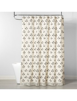 Printed Floral Shower Curtain Neutral   Threshold by Threshold