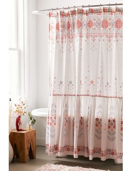 Aneta Folk Floral Ruffle Shower Curtain by Urban Outfitters