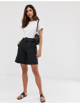 Vero Moda Aware Belted Tailored City Shorts by Vero Moda