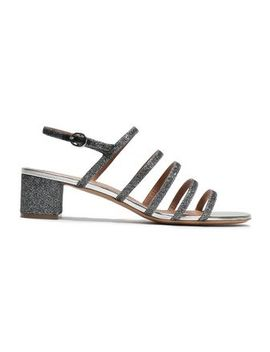 Glittered Leather Sandals by Mansur Gavriel