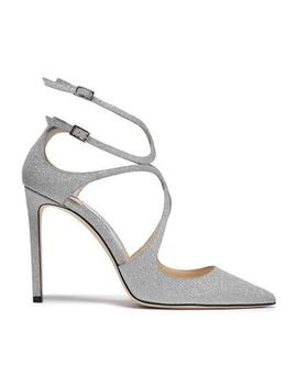 Glittered Leather Pumps by Jimmy Choo