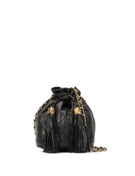 Fringe Drawstring Chain Shoulder Bag by Chanel Pre Owned