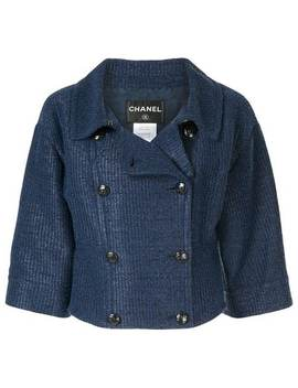 Double Breasted Cropped Jacket by Chanel Pre Owned