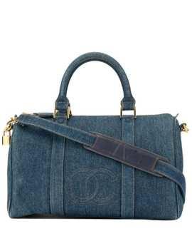 Cc Stitch Denim Boston 2way Bag by Chanel Pre Owned