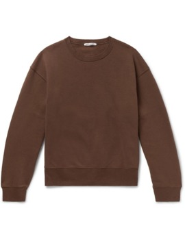 Fleece Back Cotton Blend Jersey Sweatshirt by Our Legacy