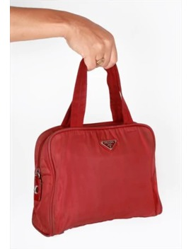 Vintage Prada Red Nylon Bag by Prada