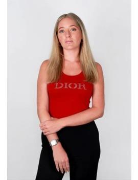 Vintage Dior Diamante Logo Vest by Christian Dior