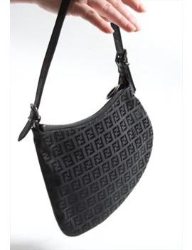 Rare Fendi Black Moon Bag Monogram by Fendi
