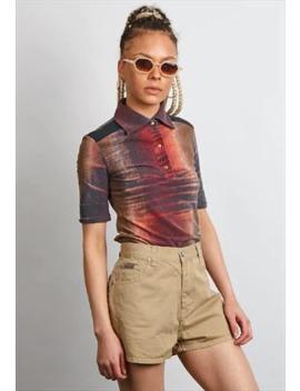 Vintage 90's Calvin Klein Beige Shorts by Calvin Klein