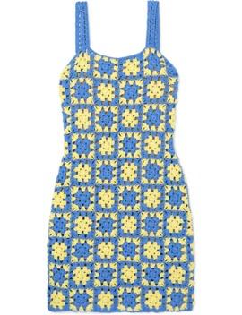 Turbo Crocheted Cotton Mini Dress by Staud