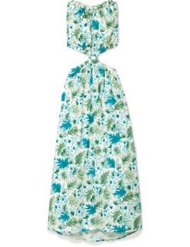 Theia Cutout Printed Linen Maxi Dress by Cult Gaia