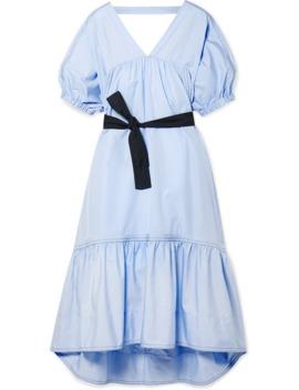 Open Back Belted Cotton Poplin Midi Dress by 3.1 Phillip Lim