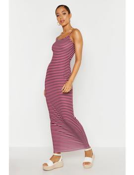Stripe Maxi Dress by Boohoo