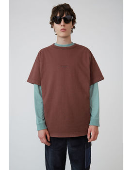 Logo T Shirt Chestnut Brown by Acne Studios