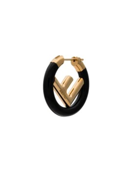 Single Logo Earring by Fendi