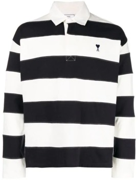 Bicolor Polo Shirt by Ami Alexandre Mattiussi