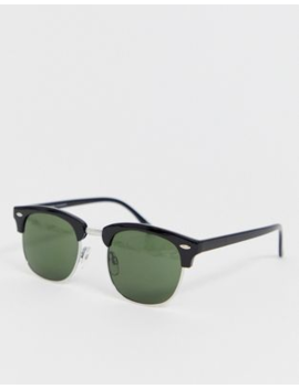 Selected Homme Eco Friendly Retro Sunglasses In Black by Selected Homme