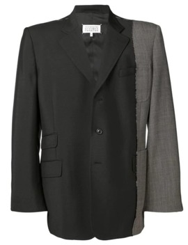 Contrast Fabric Blazer by Maison Margiela