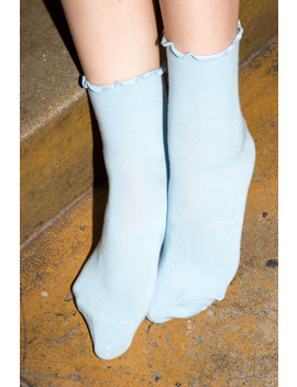 Blue Ruffled Socks by Brandy Melville