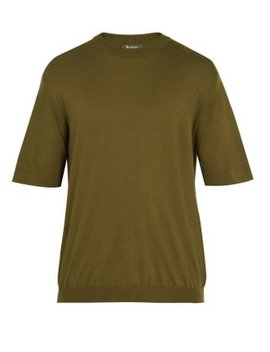 Crew Neck Cashmere Blend T Shirt by Berluti