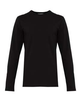 Crew Neck Stretch Cotton T Shirt by Jil Sander