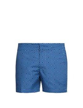Angra Geometric Print Swim Shorts by Frescobol Carioca