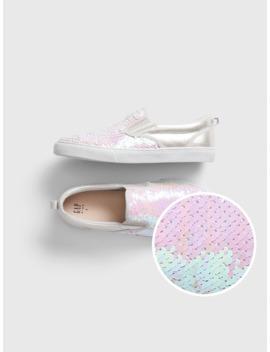 Kids Flippy Sequin Slip On Sneakers by Gap