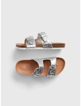 Kids Glitter Cork Sandals by Gap