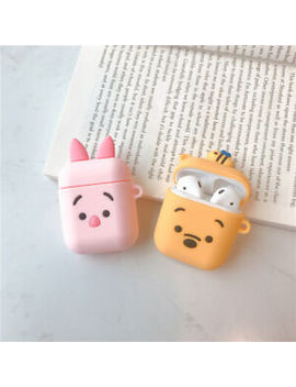 For Apple Air Pods Case Cute Bear Piggy Silicone Cover Skin Earphone Charger Case by Unbranded