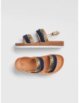 Kids Braided Metallic Cork Sandals by Gap