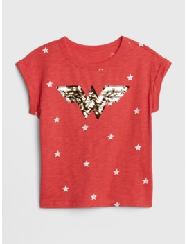 Gap Kids   Dc™ Wonder Woman Flippy Sequin T Shirt by Gap