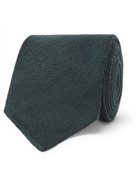 8cm Herringbone Wool Tie by Thom Sweeney