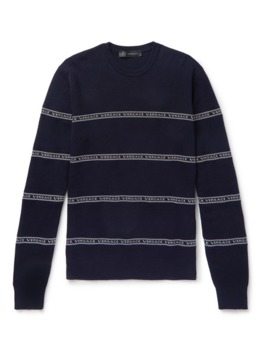 Logo Intarsia Cotton Blend Sweater by Versace