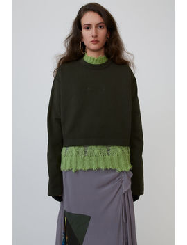 Embossed Logo Sweatshirt Forest Green by Acne Studios