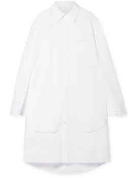 Oversized Cutout Cotton Poplin Tunic by Maison Margiela