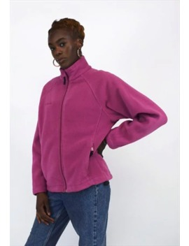 Vintage 90's Columbia Pink Zip Up Fleece by Columbia
