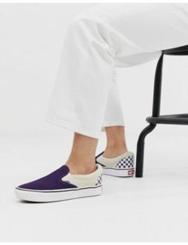 Vans Comfy Cush Slip On Purple Sneakers by Vans