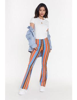 Electric Feel Stripe Flare Pants by Nasty Gal