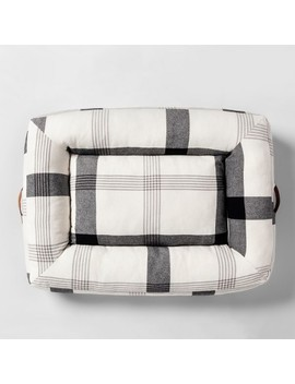 Pet Plaid Holiday Bed Black/White   Hearth &Amp; Hand With Magnolia by Hearth & Hand With Magnolia