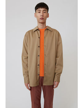 Relaxed Fit Shirt Hazel Beige by Acne Studios