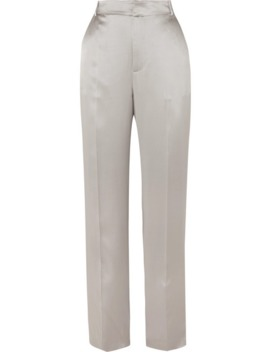 Jack Silk Satin Straight Leg Pants by Joseph