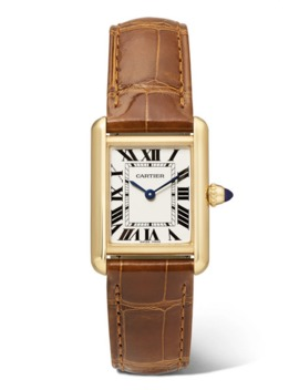 Tank Louis Cartier Kleine 22 Mm Uhr Aus 18 Karat Gold Mit Alligatorlederarmband by Cartier