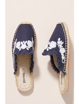 Soludos Frayed Floral Espadrilles by Soludos