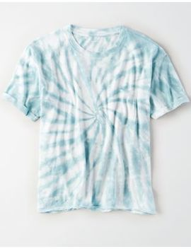 Ae Tie Dye Crew Neck Pocket T Shirt by American Eagle Outfitters