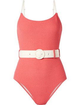 The Nina Belted Terry Swimsuit by Solid & Striped