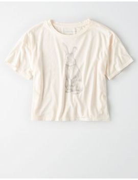 Ae Rabbit Graphic T Shirt by American Eagle Outfitters
