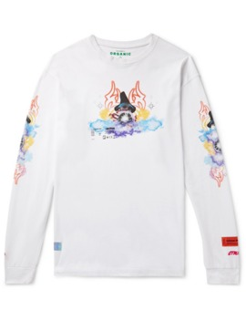 Oversized Printed Organic Cotton Jersey T Shirt by Heron Preston