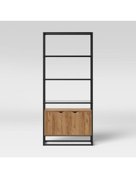 Ada Mixed Material Bookcase With Glass   Project 62 by Project 62