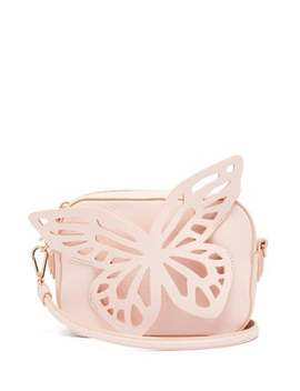 Flossy Butterfly Leather Cross Body Camera Bag by Sophia Webster
