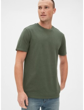 Pique Crewneck T Shirt by Gap